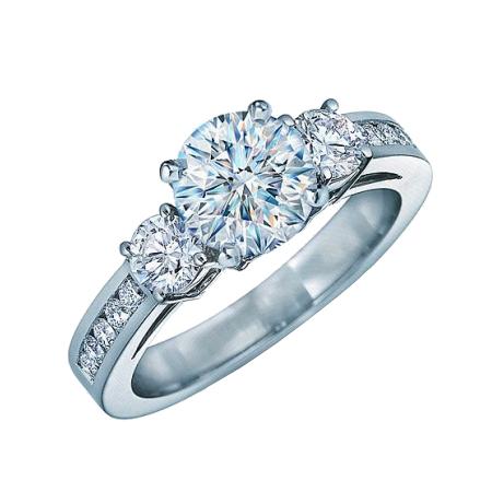 Кольцо для помолвки с бриллиантами DVI-5, белое золото 585 пробы ... 2d734f9cce1