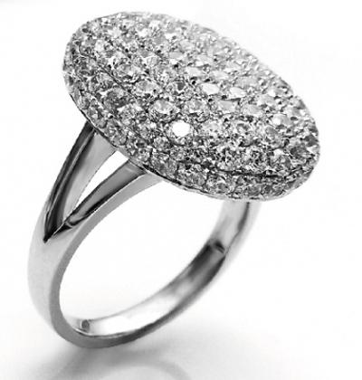 Кольцо для помолвки Белла с бриллиантами YA-46, белое золото 585 ... 3dbf573c422