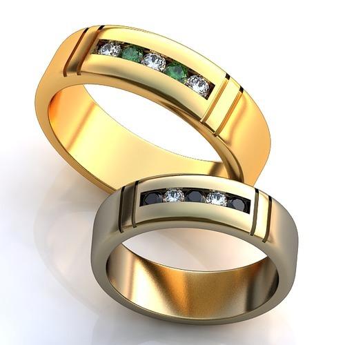 14957ac18ca7 Обручальные кольца с бриллиантами и изумрудами YJ-459, белое золото ...