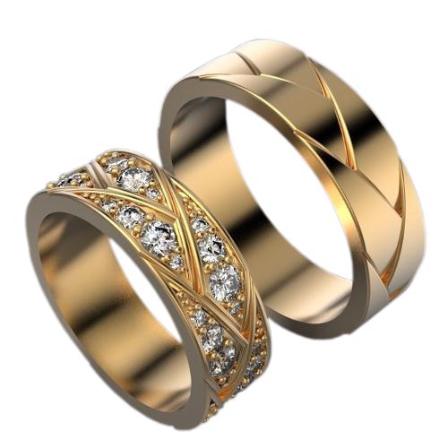 3d8e167c2810 Обручальные кольца с бриллиантами CC-464, золото 585 пробы, 5.7 гр ...